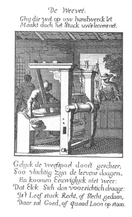 """De Moolenaar, van Jan Luyken """"het menselijk bedrijf"""" 1694"""